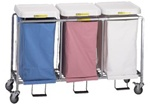R&B Triple Easy Access Laundry Hamper