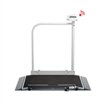 Seca 676 EMR Ready Wheelchair Scale with Handrail and Transport Castors