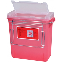 Sharps Container and Aluminum Bracket (3 Gallon)