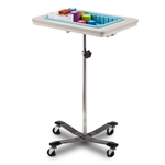 Clinton 6901 One-Bin Mobile Phlebotomy Stand