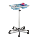 Clinton 6902 Two-Bin Mobile Phlebotomy Stand
