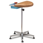 Clinton 6940 Half Round, Stationary, Padded Phlebotomy Stand