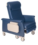 Winco XL Elite Care Cliner w/Swing Away Arms (Nylon Casters) w/LiquiCell