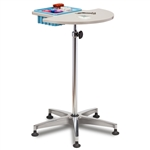 Clinton 6950 Half Round - Stationary - ClintonClean Phlebotomy Stand