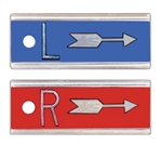 "Elite Style 1/2"" X-Ray Markers with Arrow and No Initials"