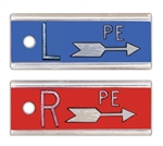 "Elite Style 1/2"" X-Ray Markers with Arrow and Initials"