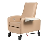 "Winco Vero Care Cliner w/ Push Back, Fixed Arms & 5"" Casters (Trendelenburg)"