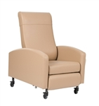 "Winco Vero Care Cliner w/ Push Back, Fixed Arms & 3"" Casters (Trendelenburg)"