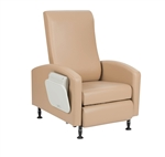 Winco Vero Care Cliner w/ Push Back, Fixed Arms & Pedestal Feet (Trendelenburg)