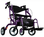 Drive Airgo Fusion F20 Side-Folding Rollator & Transport Chair by Hugo