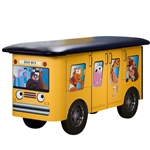 Clinton Fun Series Pediatric Exam Table: Zoo Bus with Jungle Friends