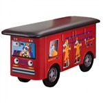 Clinton Fun Series Pediatric Exam Table: Engine K-9 with Dalmatian Firefighters