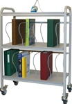 "Winco 16 - 3"" Binder Capacity Ring Binder Cart"