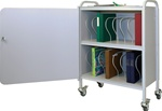 "Winco 16 - 3"" Binder Capacity Ring Binder Cart w/Lock"