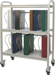"20 - 2"" Binder Capacity Ring Binder Cart"