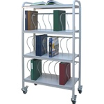 "Winco 24 - 3"" Binder Capacity Ring Binder Cart"