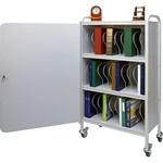 "Winco 30 - 2"" Binder Capacity Ring Binder Cart w/Lock"