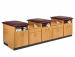 "Clinton 3-Station Laminate Taping Table (120"" x 36"" x 36"")"