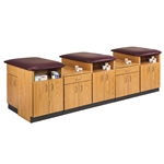 "Clinton 3-Station Laminate Taping Table (120"" x 42"" x 36"")"