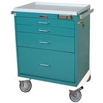 Classic Line, Four Drawer, Anesthesia Workstation, Keyless Entry