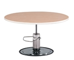 Clinton Round Laminate Hydraulic Table