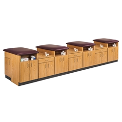 "Clinton 4-Station Laminate Taping Table (168"" x 36"" x 36"")"