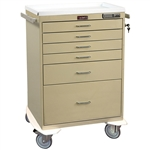 Classic Line, Six Drawer, Anesthesia Workstation, Keyless Entry