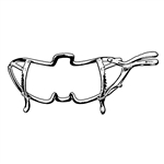 Sklar Whitehead Mouth Gag, 6""