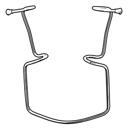"Sklar Oringer Lip Retractor, 4 3/4"", 75mm