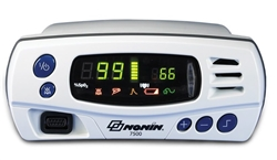 Nonin 7500 Tabletop/Portable Pulse Oximeter w/ 1 Neonate Flex Reusable SpO2 Sensor & 25 FlexiWraps