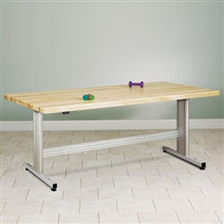 Clinton Group Therapy Table w/ Electric Crank Height Adjustment (Maple)