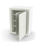 "UMF Double Door, Double Lock Narcotic Cabinet, 3 Shelves, 18""W x 24""H x 12""D"