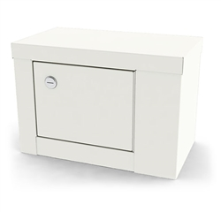 "UMF Single Door, Single Lock Narcotic Cabinet, No shelf, 12""W x 7.75""H x 7""D"