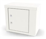 "UMF Single Door, Double Lock Narcotic Cabinet, 1 Shelf, 14""W x 12""H x 8""D"