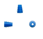 Silicone 4mm - 7mm  Eartip, Blue, Flanged (100 pc)