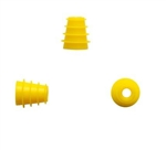 Silicone Eartip 5-8 mm Flanged - Yellow (100 pc)