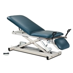 Open Base Power Table w/Adjustable Backrest, Footrest & Stirrups