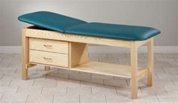 Eco-Friendly Wood Treatment Table with Drawers