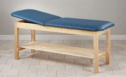 Eco-Friendly Wood Treatment Table with Shelf
