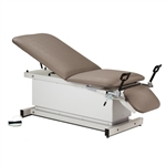 Power Examination Table with Stirrups, Adjustable Backrest & Drop Section