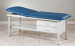 Eco-Friendly Steel Treatment Exam Table with Drawers