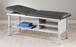 Eco-Friendly Steel Treatment Exam Table with Shelving