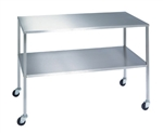 Lakeside Stainless Steel Instrument Table w/Shelf