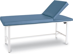 "Winco Treatment Exam Table w/Adjustable Backrest (std. ht. 30"")"