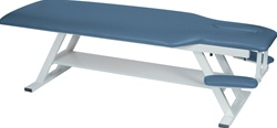 "Winco Adjustable Treatment Exam Table w/Armrest - 24"" Wide (std. ht. 22"")"