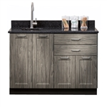 "Clinton Fashion Finish 48"" Base Cabinet with 4 Doors & 2 Drawers"