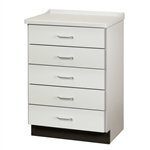 Clinton 8805-A Molded Top Treatment Cabinet w/ 5 Drawers