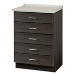 Clinton 8805-AF Fashion Finish, Molded Top Treatment Cabinet w/ 5 Drawers