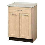 Clinton 8821-AF Fashion Finish, Molded Top Treatment Cabinet w/ 2 Doors & 1 Drawer