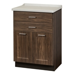 Clinton 8822-F Fashion Finish, Molded Top Treatment Cabinet with 2 Doors & 2 Drawers
